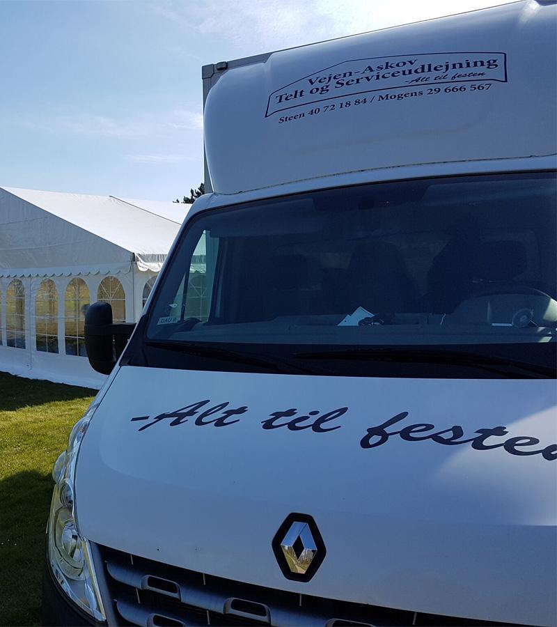 Levering og afhentning af telte - Vejen-Askov Telt og Serviceudlejning