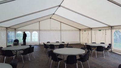 leje af telt, runde borde og gulv | Vejen-Askov Telt- og Serviceudlejning
