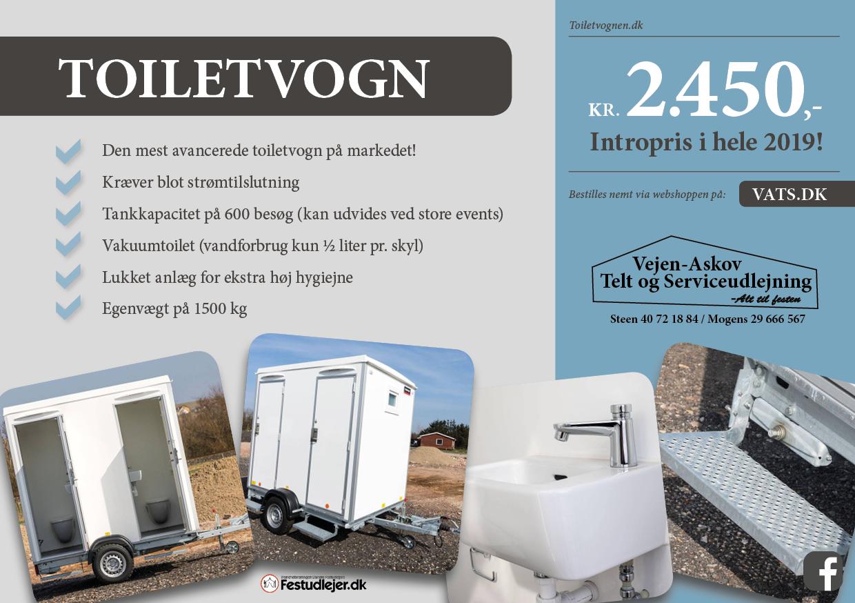 Lej toiletvogn, Askov-Vejen-Kolding